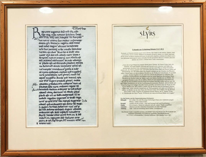 Urkunde und Übersetzung